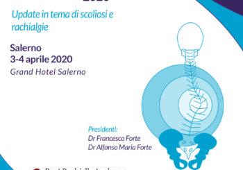 """Journées Perdriolle 2020. A Salerno """"Update in tema di scoliosi e rachialgie"""""""